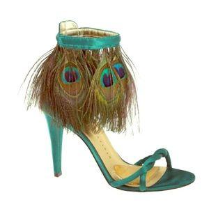Emerald Satin Martinez Valero Heels